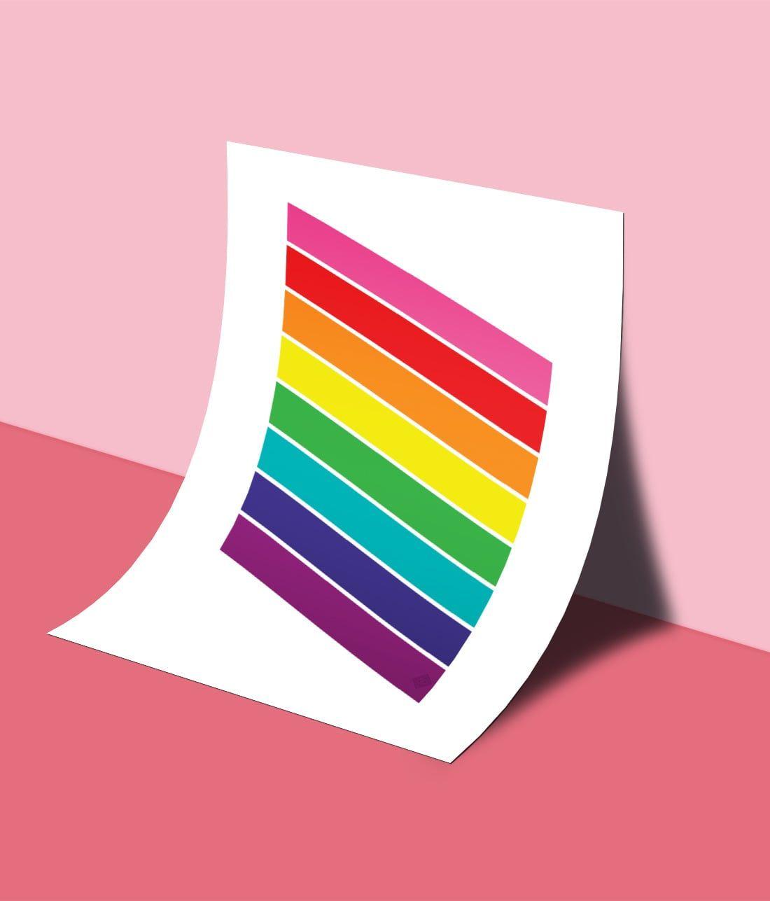 Pride Rainbow Flag Free Printable Lgbtq Flag Little Gold Pixel Rainbow Flag Pride Free Printable Art Lgbtq Flags