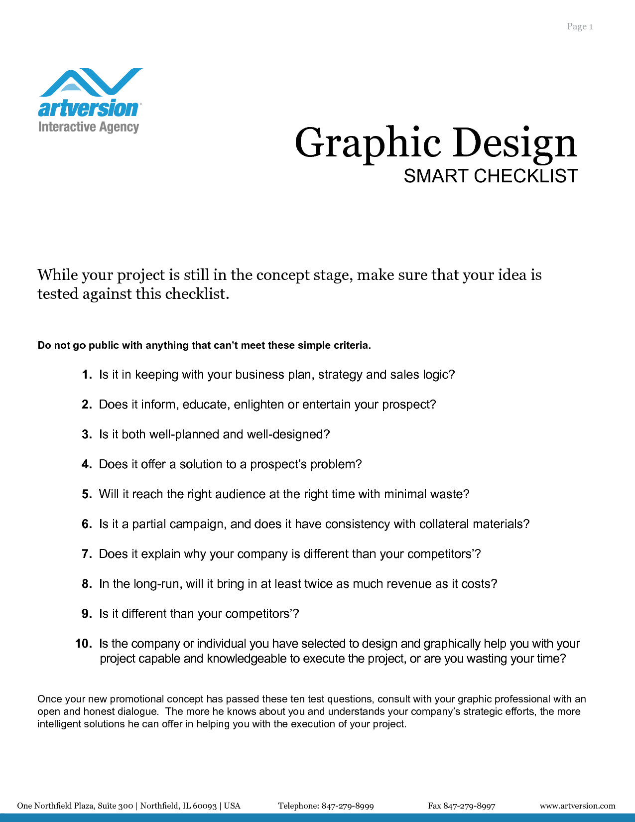 Graphic Design Project Checklist  Inspiration
