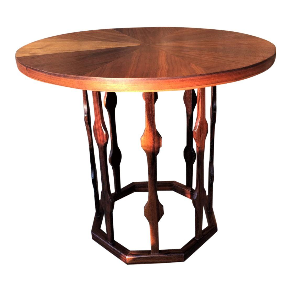 Rare Foster Mcdavid Octagon Bottom End Table Night Stand For Sale Table Side Table End Tables