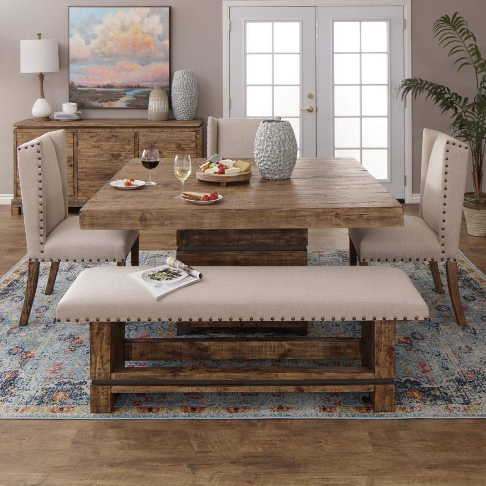 Century Table 3 Chairs 1 Bench Rustic Dining Room Sets Dining