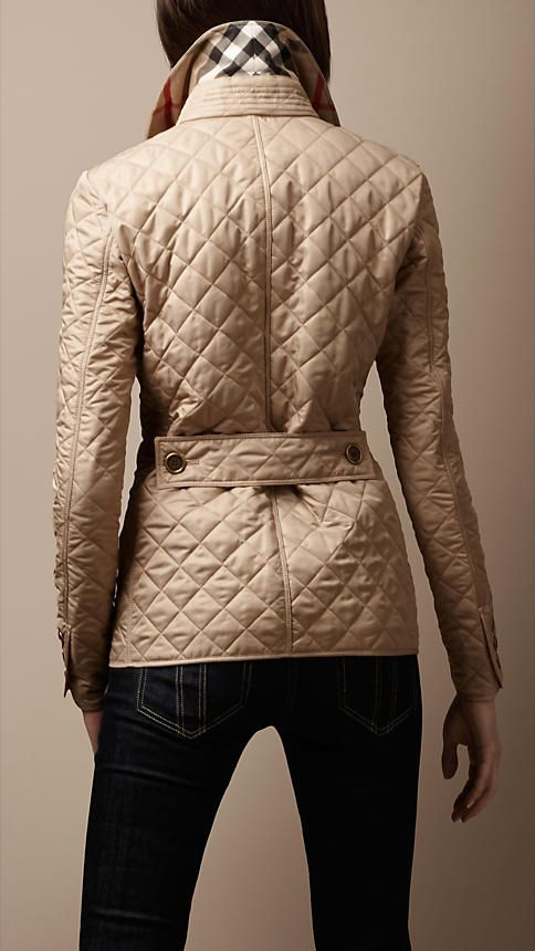 Diamond Quilted Jacket Burberry Quilted Jacket Quilted Jacket Fashion