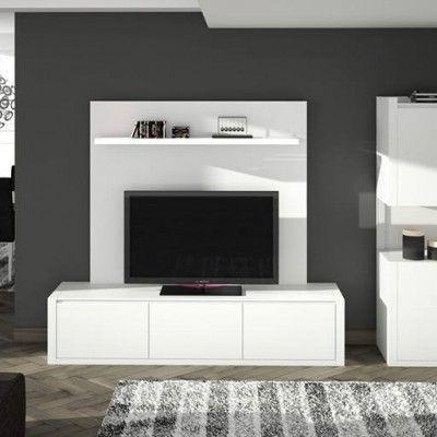 Mueble salon blanco moderno muebles de salon modernos - Muebles en alcantarilla ...