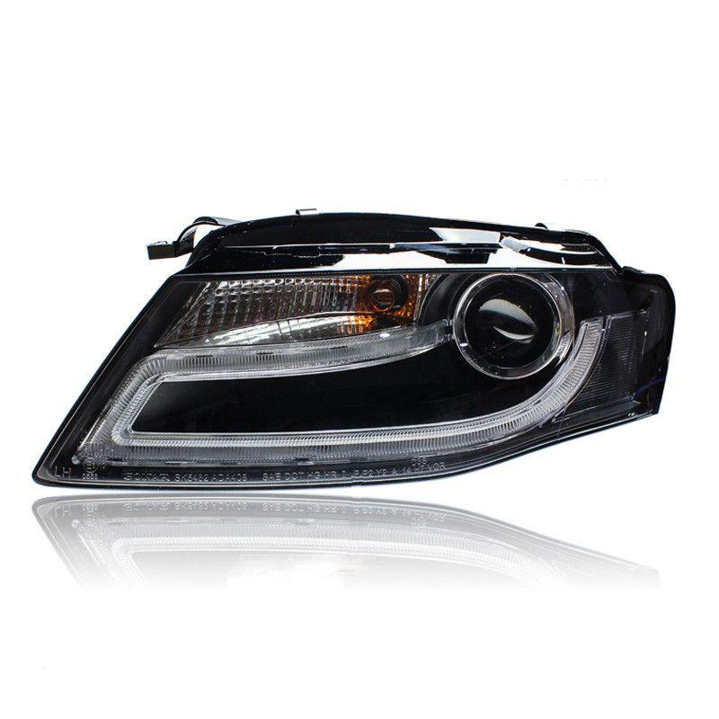 Brand New Led Eagle Eye Drls Hid Bi Xenon Projector Len Headlight For Audi A4 A4l 2009 2012 Car Lights Audi A4 Eagle Eye