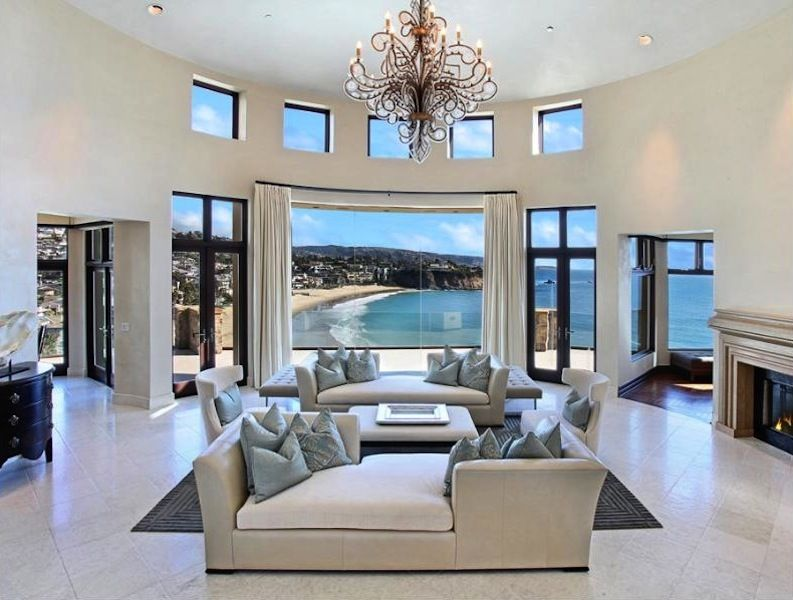 Most Beautiful Living Rooms Wall Decor For Room Luxury Mansion In California Houses The World
