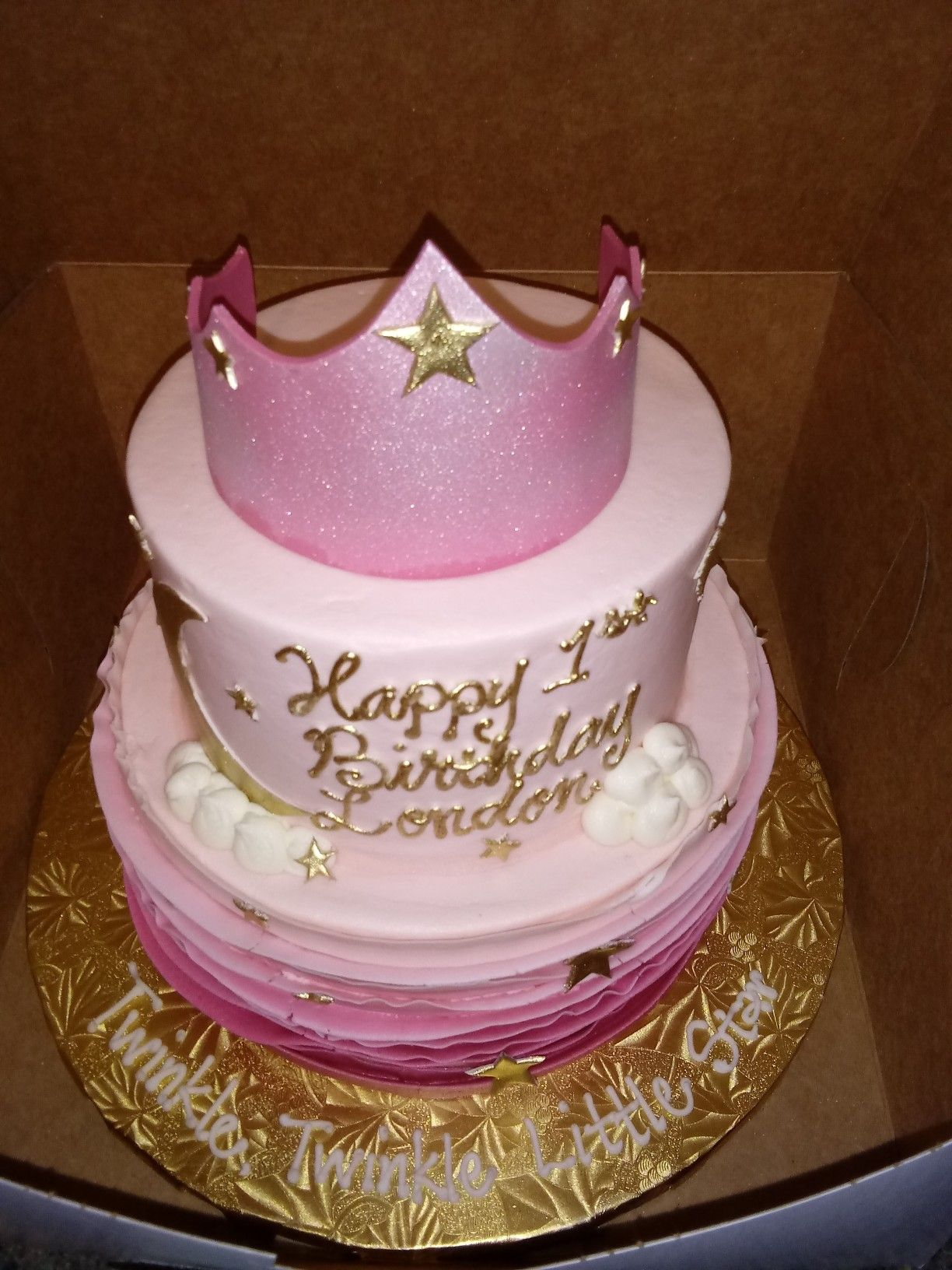 Marvelous Ms London Star Birthday Cake 1Yrs Old Cake Birthday Cake Personalised Birthday Cards Paralily Jamesorg