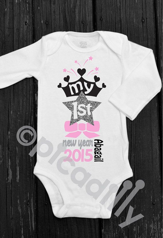 cf4798e48 Baby Girl First New Years Bodysuit Baby Girl My First New Year ...