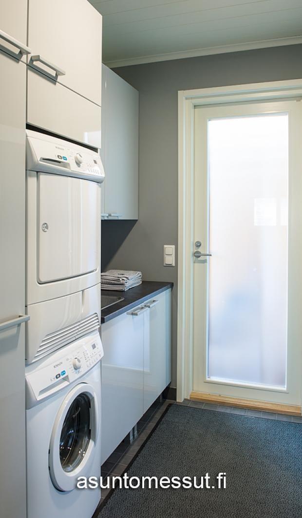 28 Sievitalo Mustakoivu - Kodinhoitohuone   Asuntomessut