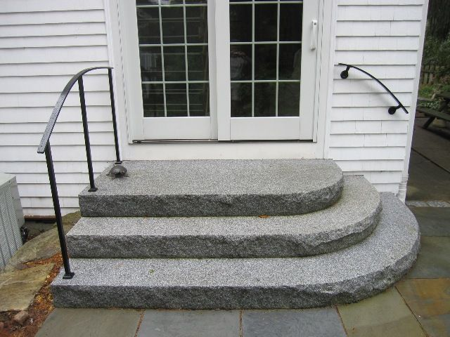 Semi Circular Front Steps Rounded