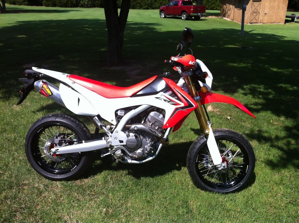 honda crfl  supermoto exhaust rims brakes tyres upgrade hotmoto motorbikes