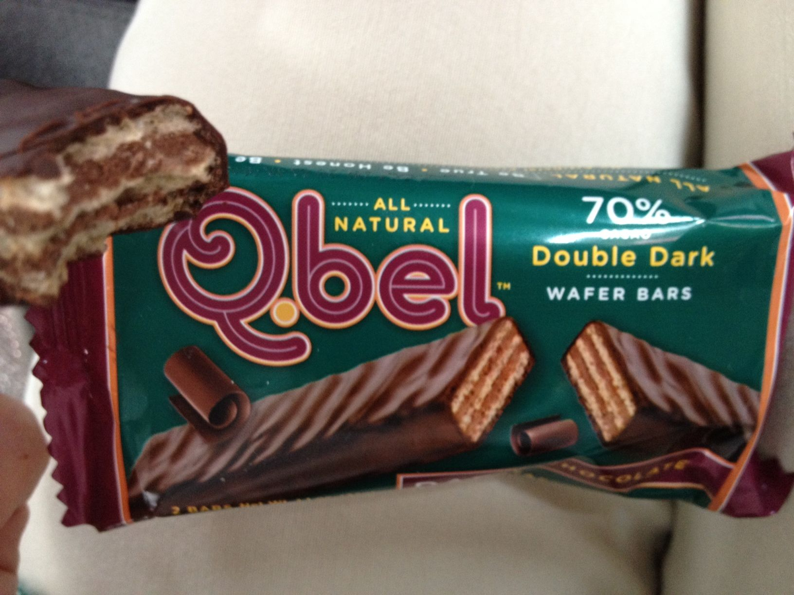 Accidentally Vegan: Double Dark Chocolate Wafer Bars from Q.bel ...