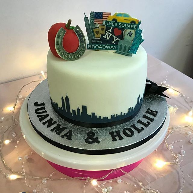 Small Celebration Cake For Work Colleague Getting Married In NYC Celebrationcake Wedding Nyc Congrats Cakesgram Cakes Cakesofig Kakekaren