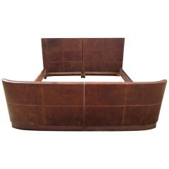 Art Deco Queen Size Bed Made of Beautiful Exotic Woods