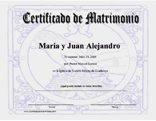 Por Siempre Juntos Certificado De Matrimonio Acta De Matrimonio Juegos De Matrimonio