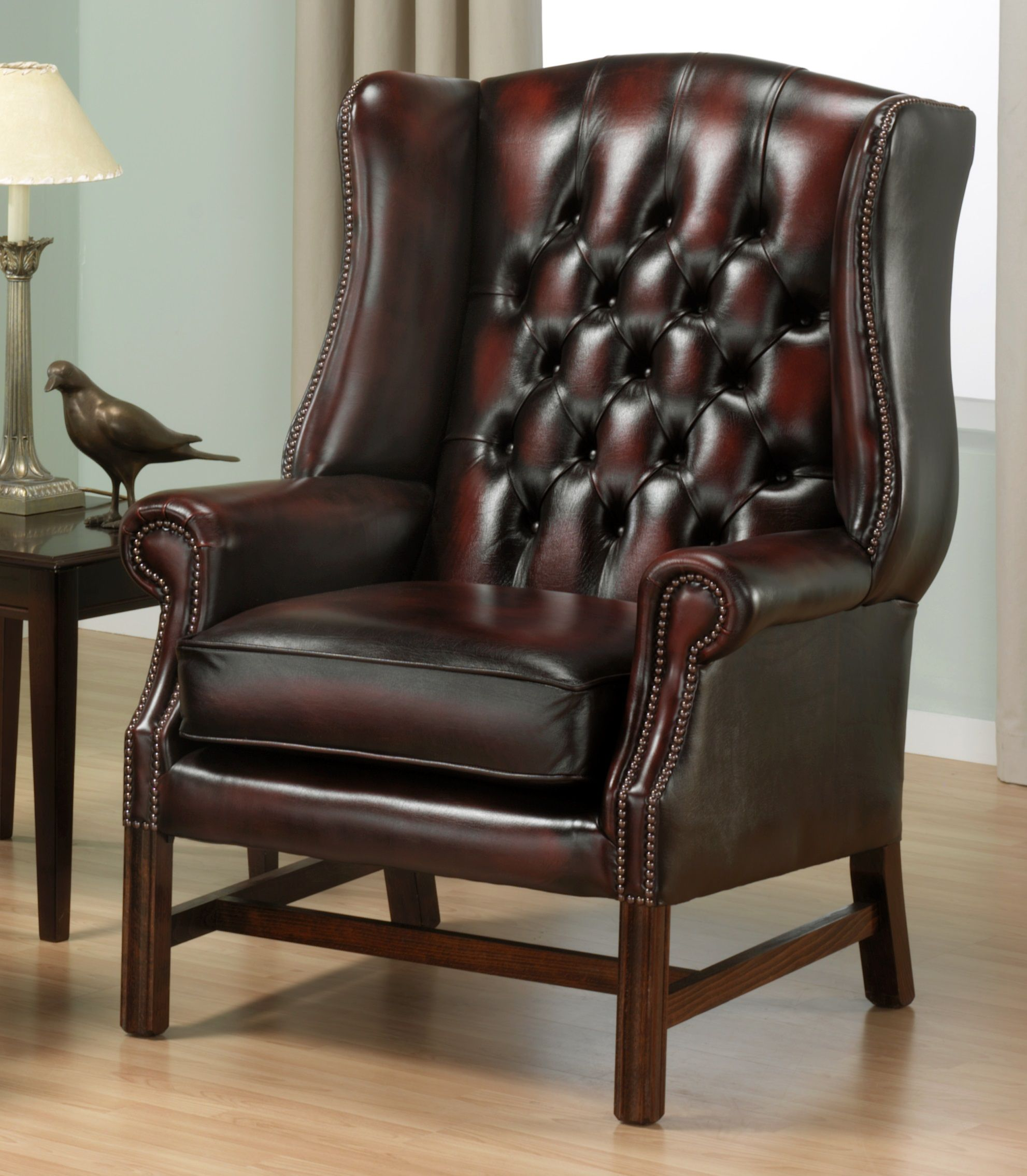 Chesterfield Sessel Weiss Holz Stuhl Wing Chair Murah Verwendet Chesterfield Stuhl Wing
