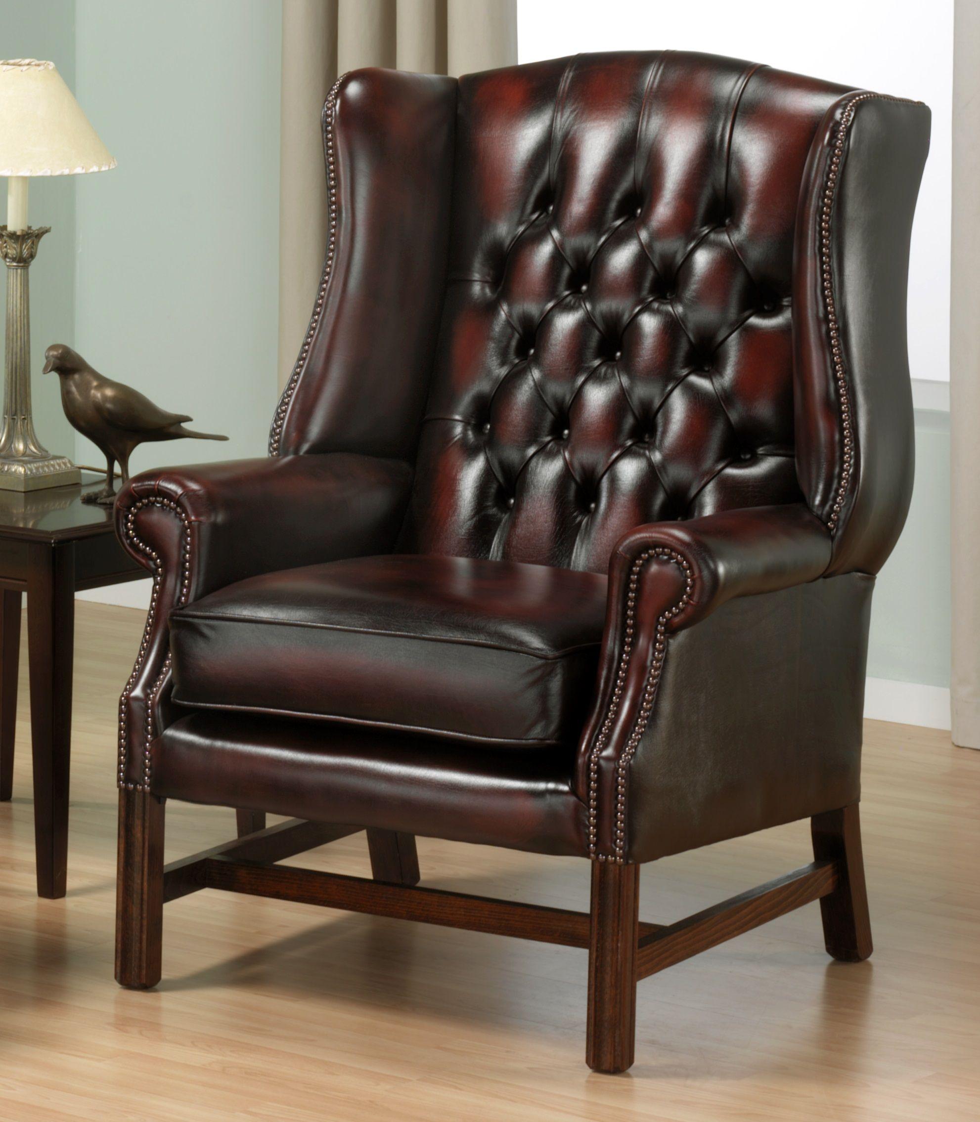 Holz Stuhl Wing Chair Murah Verwendet Chesterfield Stuhl
