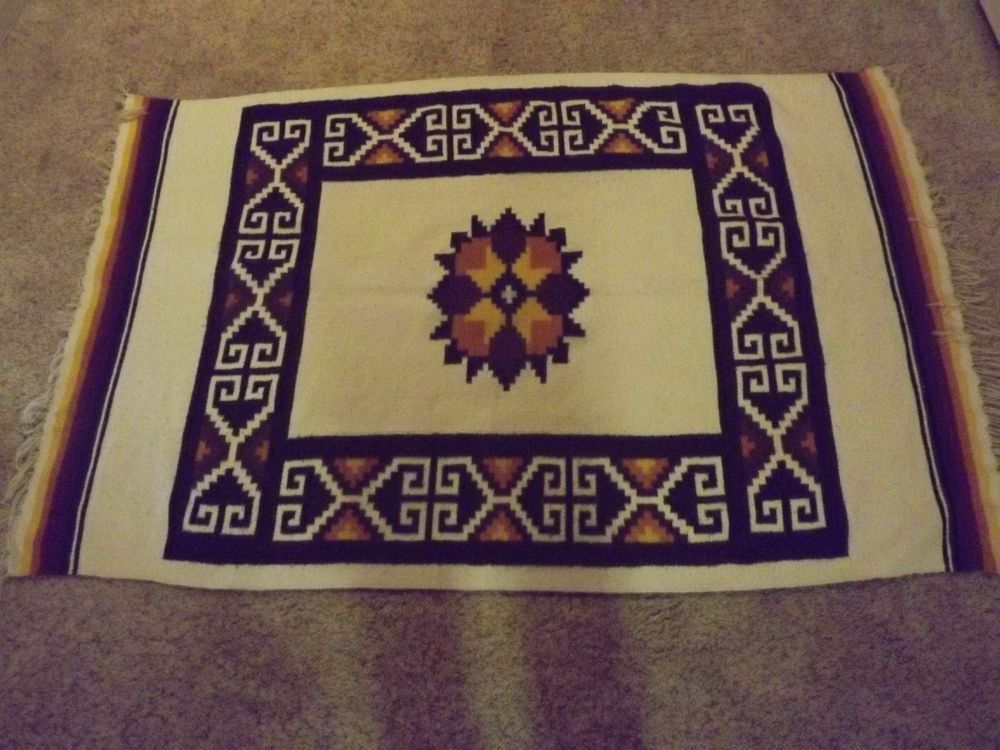 American Indian Style Rug Large Mexican Rug 80 X 47 Tapis