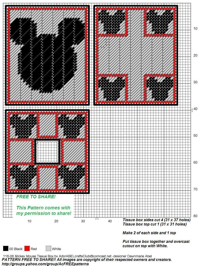 mickey mouse plastic canvas patterns - Bing images
