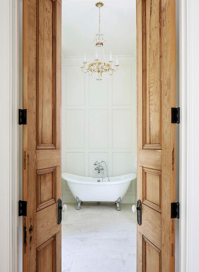 Reclaimed Interior Doors   Made From Old Growth Cypress   Tailored Family  Home With Neutral Interiors