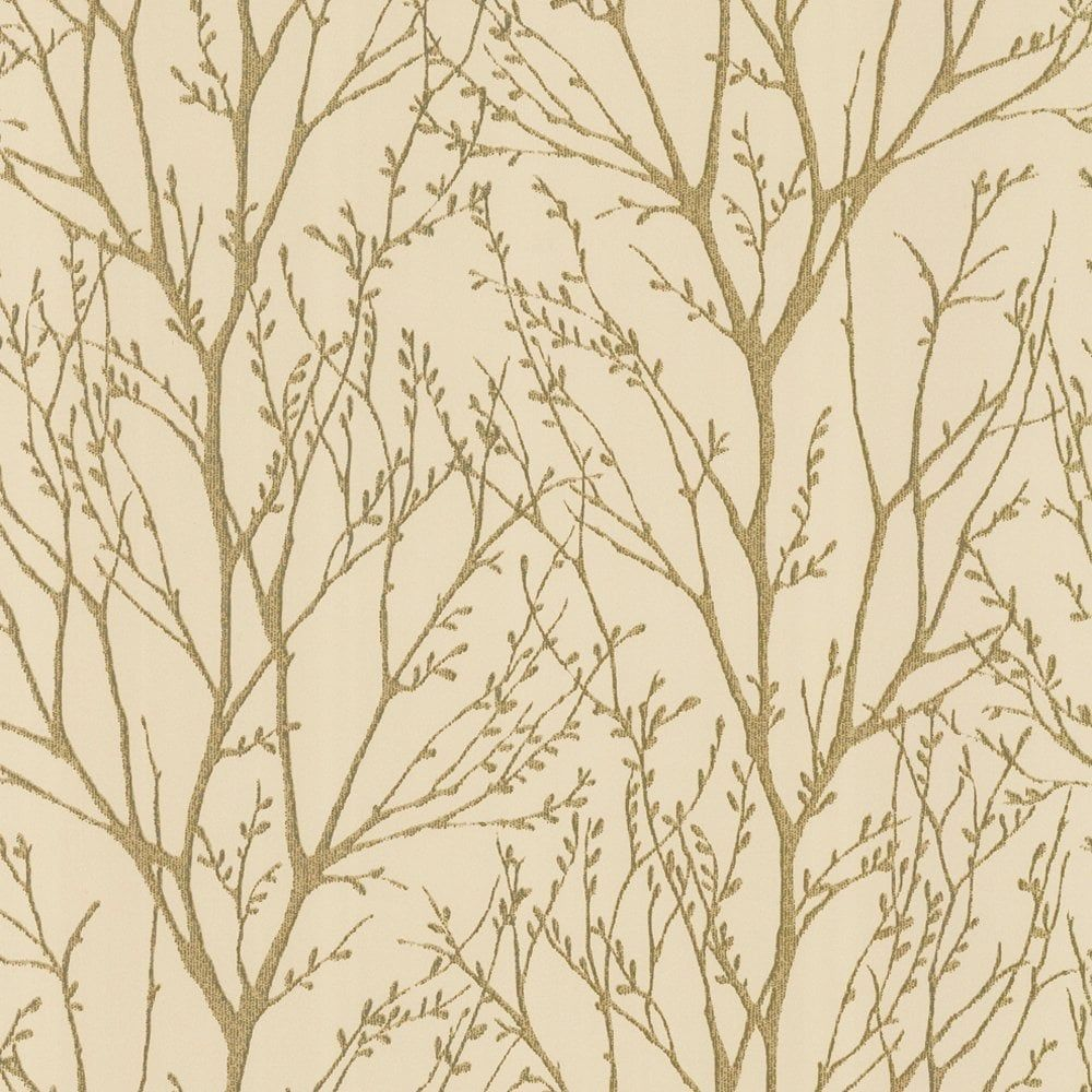 I Love WallpaperTM Shimmer Wallpaper Metallic Gold Cream ILW980005