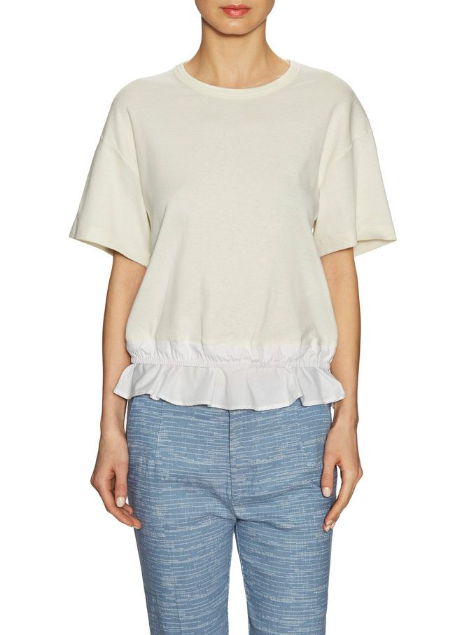 Ruffled Crewneck Top from See By Chloé on Gilt