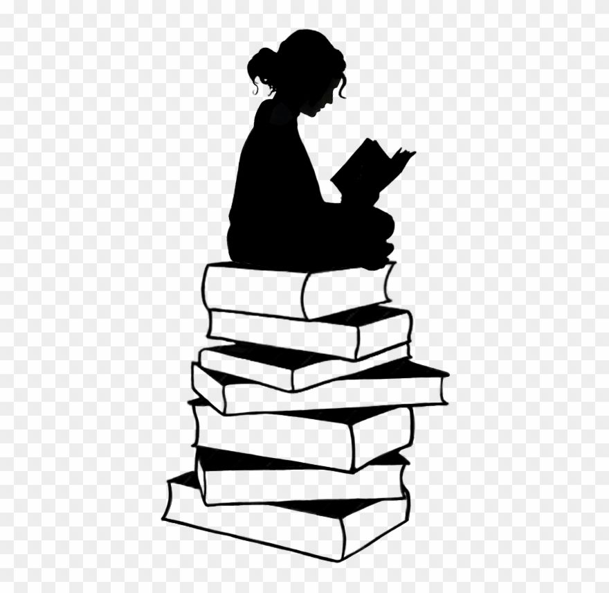 Google Image Result For Https Www Pinclipart Com Picdir Middle 51 519250 Girl With Book Silhouette Clipart Png Book Silhouette Book Drawing Silouette Art