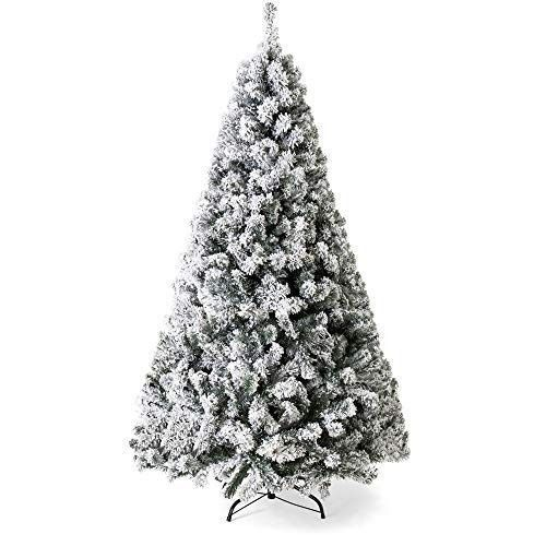 Details about Flocked Unlit Artificial Christmas Tree 75 Foot Tall
