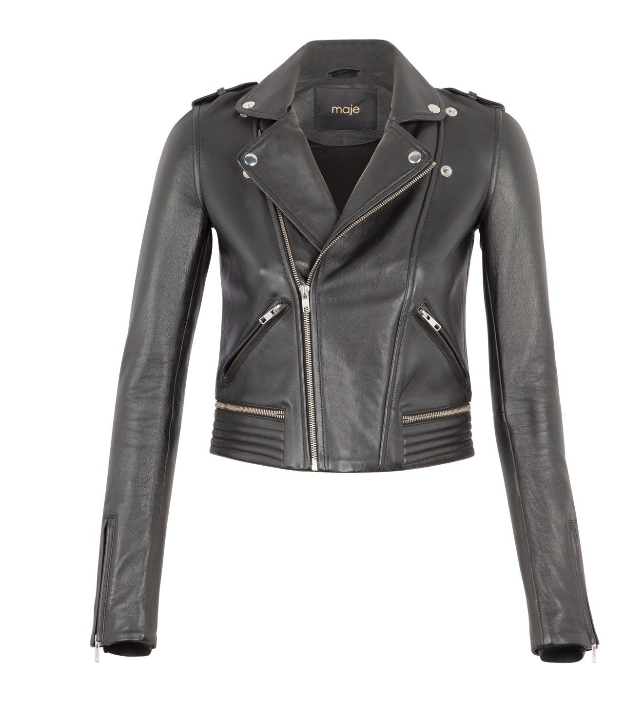 Want this for my fall garderobe: Maje Perfecto Leather Jacket at ...