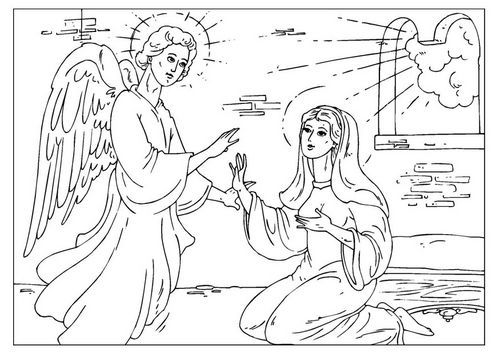 Coloring Page Angel Gabriel Img 25927 Jesus Coloring Pages