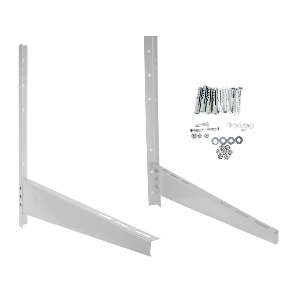 Mrcool Steel Support Mounting Bracket For Ductless Mini Split Condenser White Ductless Mini Split Support Wall Support Brackets