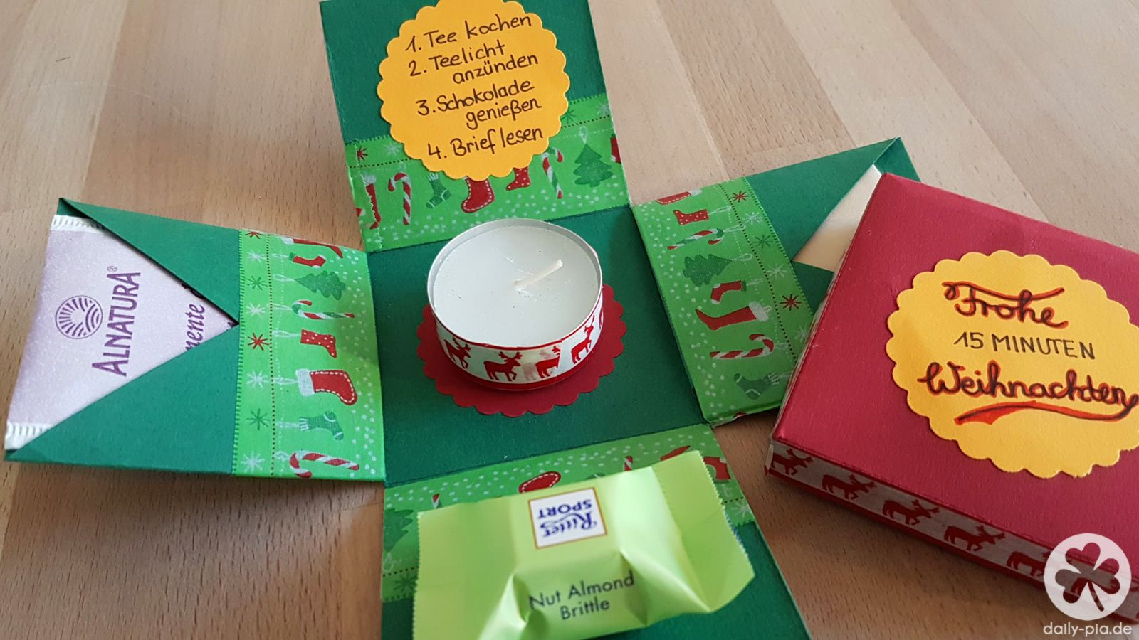 Diy 15 minuten auszeit box geschenk f r erzieherin - Geschenk erzieherin weihnachten ...