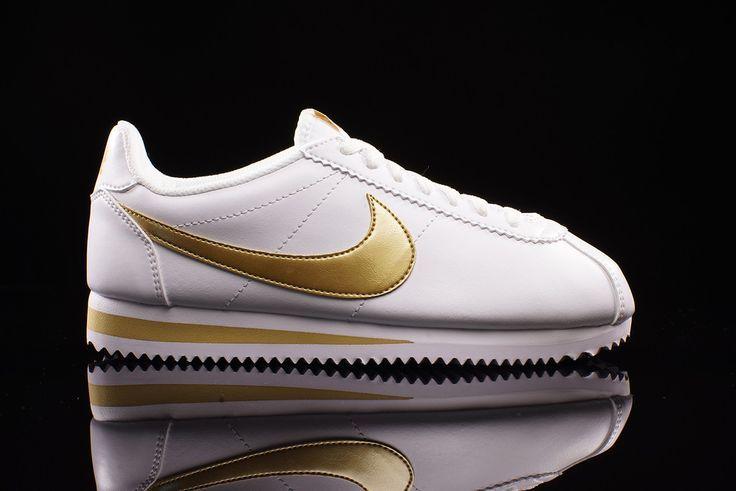 Sneakers METALLIC NIKE CORTEZ GOLD LEATHER WMNS Trendy Women's CLASSIC WHITE qWwZ5H8UCx