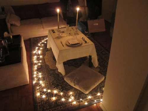Romantic Table For 2 Setup Perfect For 4th Anniversary Dinner