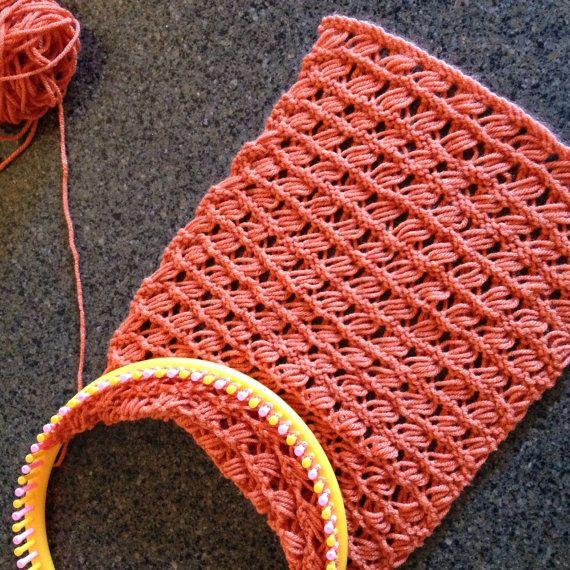Indian Cross Stitch Cowl A Loom Knit Pattern Loom Knitting My