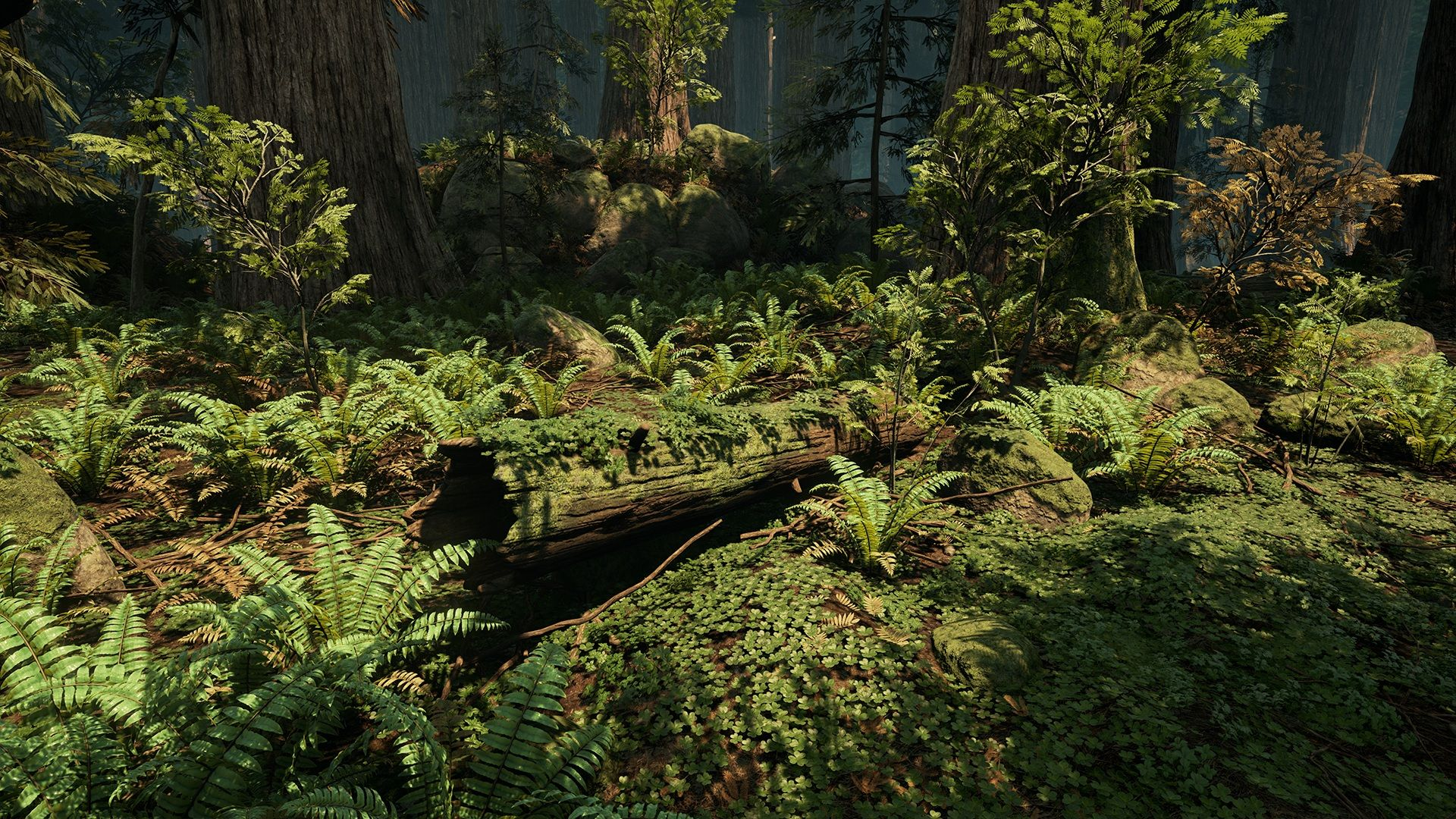 Unreal Engine 4 Forest Environment by DICE Vegetation Artist Looks