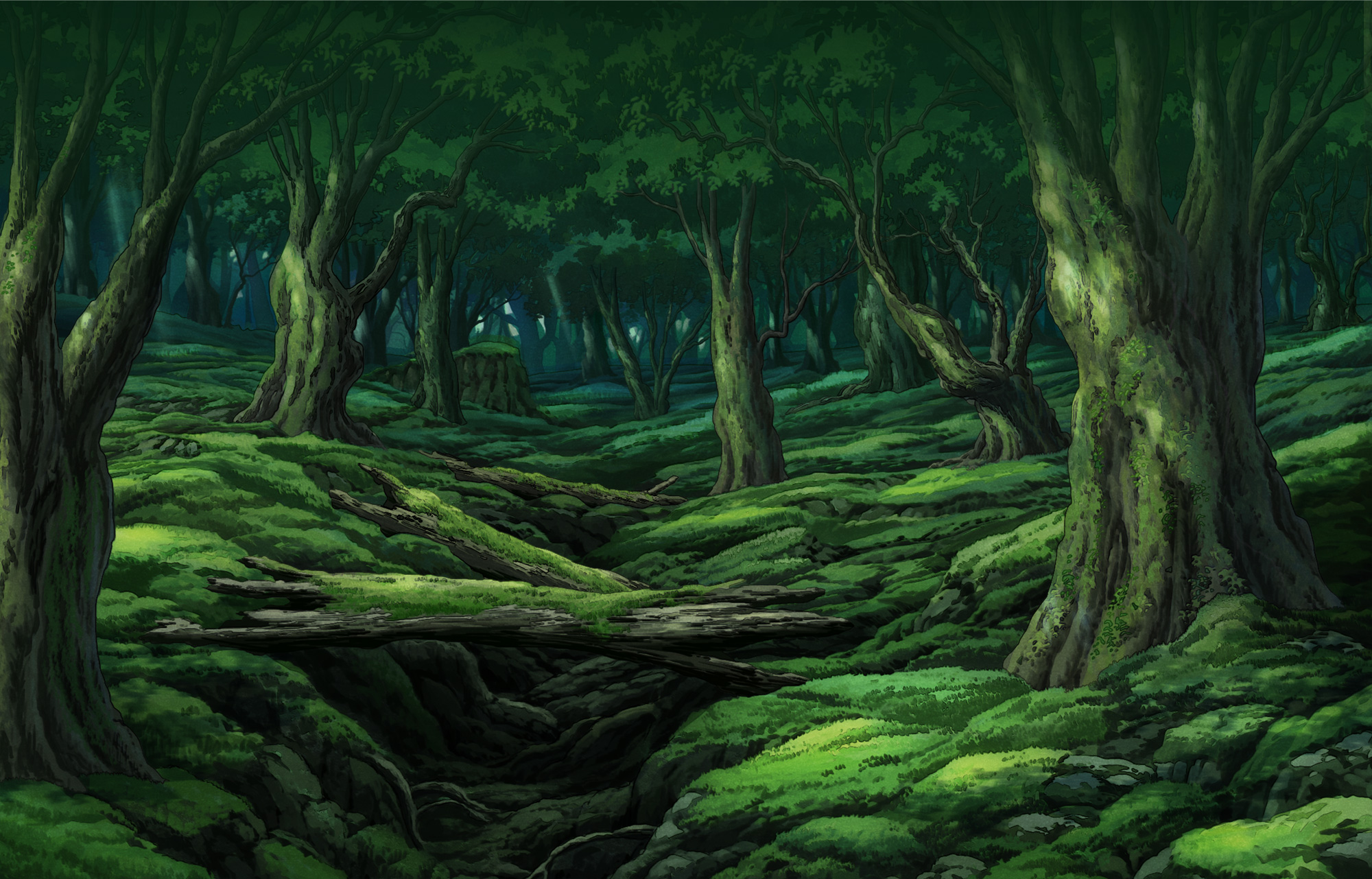 Green Forest Painting Google Search Forest Painting Forest Background Background