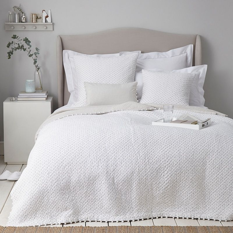 Brittany Quilts Cushion Covers Cushions Bedspreads Throws The White Company The White Company White Master Bedroom Bed Spreads
