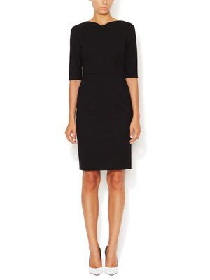 Cotton Darted 3/4 Sleeve Dress | Narciso Rodriguez