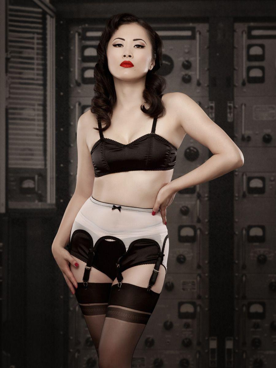 49621e26093 Pink Van Doren Pull On Suspender Belt - Kiss Me Deadly