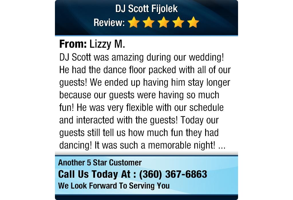 DJ Scott was amazing during our wedding! He had the dance