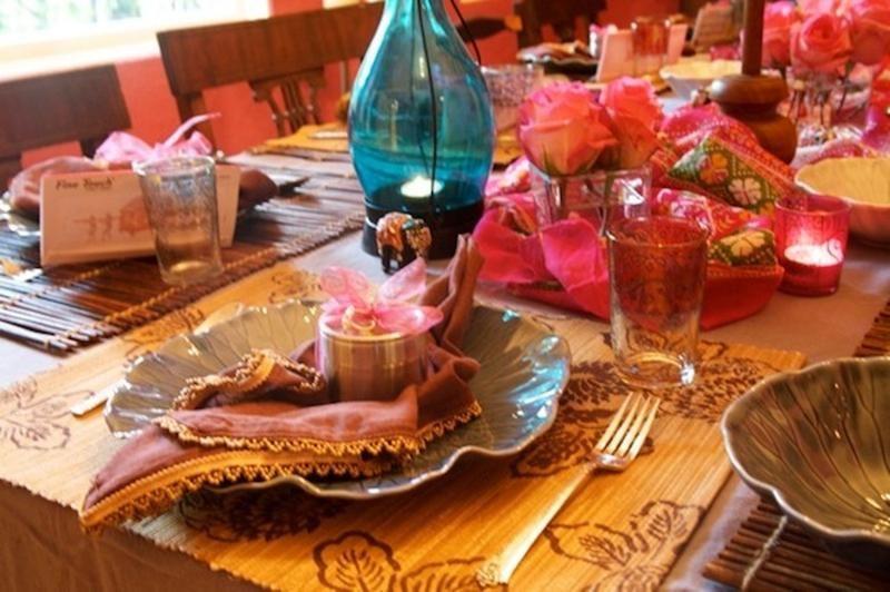Festive Dinnerware Festive Dinner Table Decoration Festive Dinner Table Dinner Table Decor Diwali Decorations