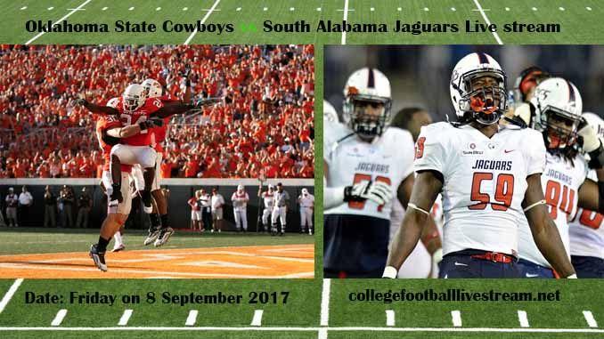 Oklahoma State Cowboys vs South Alabama Jaguars Live ...