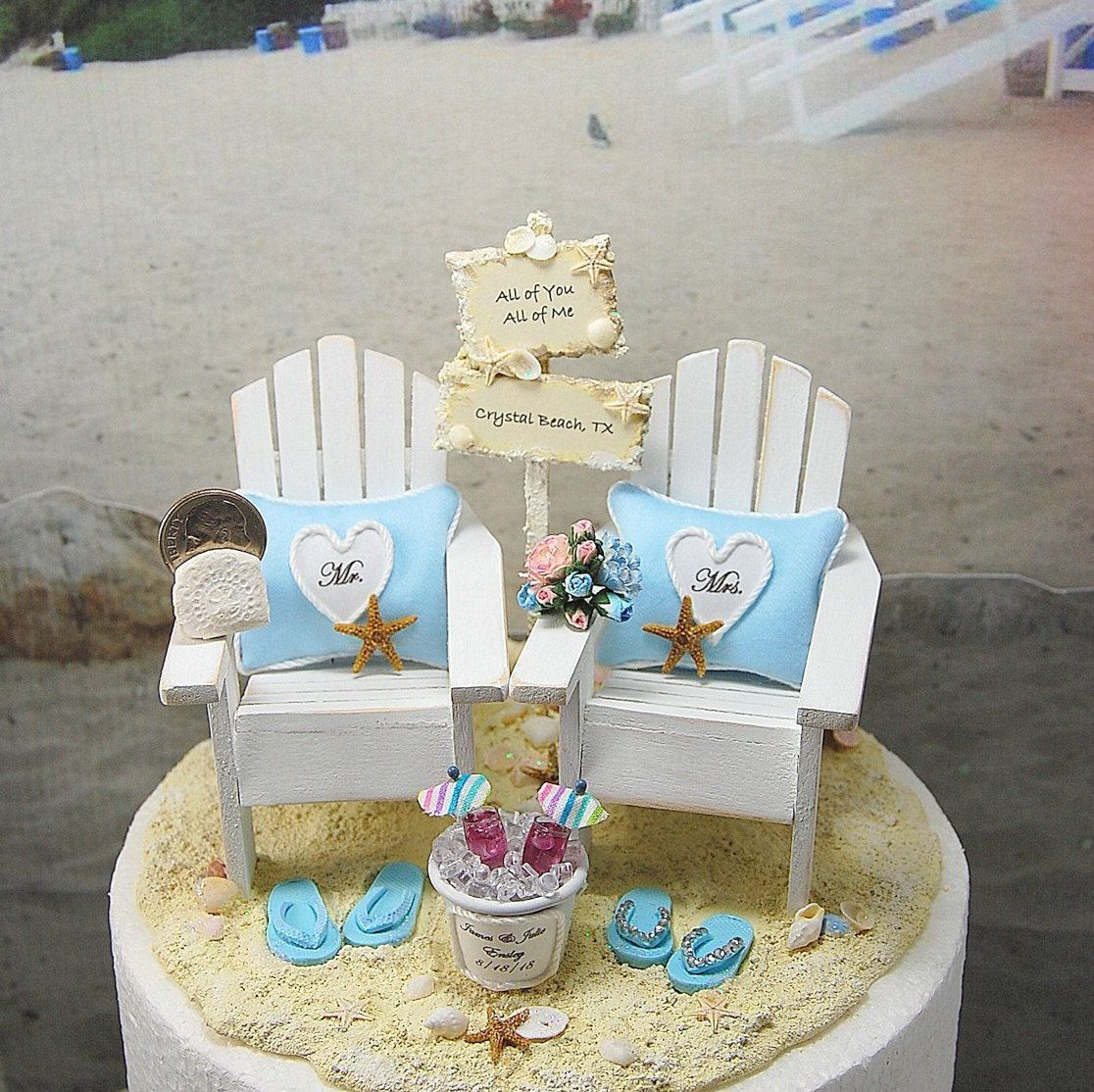 Beach Wedding Cake Topper Love Song Sign Tropical Custom Colors 6 Inch Cake Beach Wedding Cake Toppers Wedding Cake Topper Beach Theme Wedding Cake Toppers