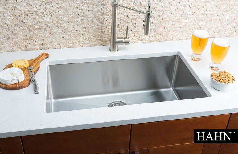 Hahn Chef Series Handmade Extra Large Single Bowl Sink Single Bowl Sink Kitchen Sink Design Sink