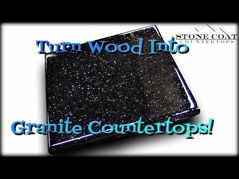 Turn Mdf Into Black Galaxy Granite Look Video Resin