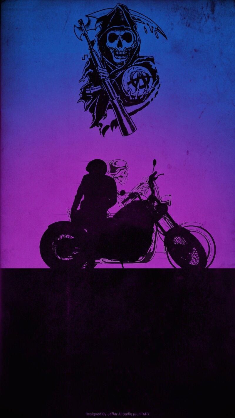 Artstation Sons Of Anarchy Poster Cesar Jaffar Sons Of Anarchy Tattoos Sons Of Anarchy Rock Poster Art