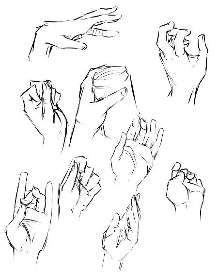 Hand Gestures 4 Drawing Exercises Drawing Anime Hands Hand Sketch