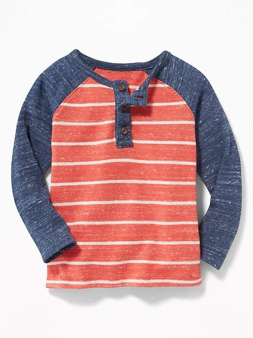 82a17e791 Old Navy Striped Color-Block Sweater-Knit Henley for Toddler Boys ...