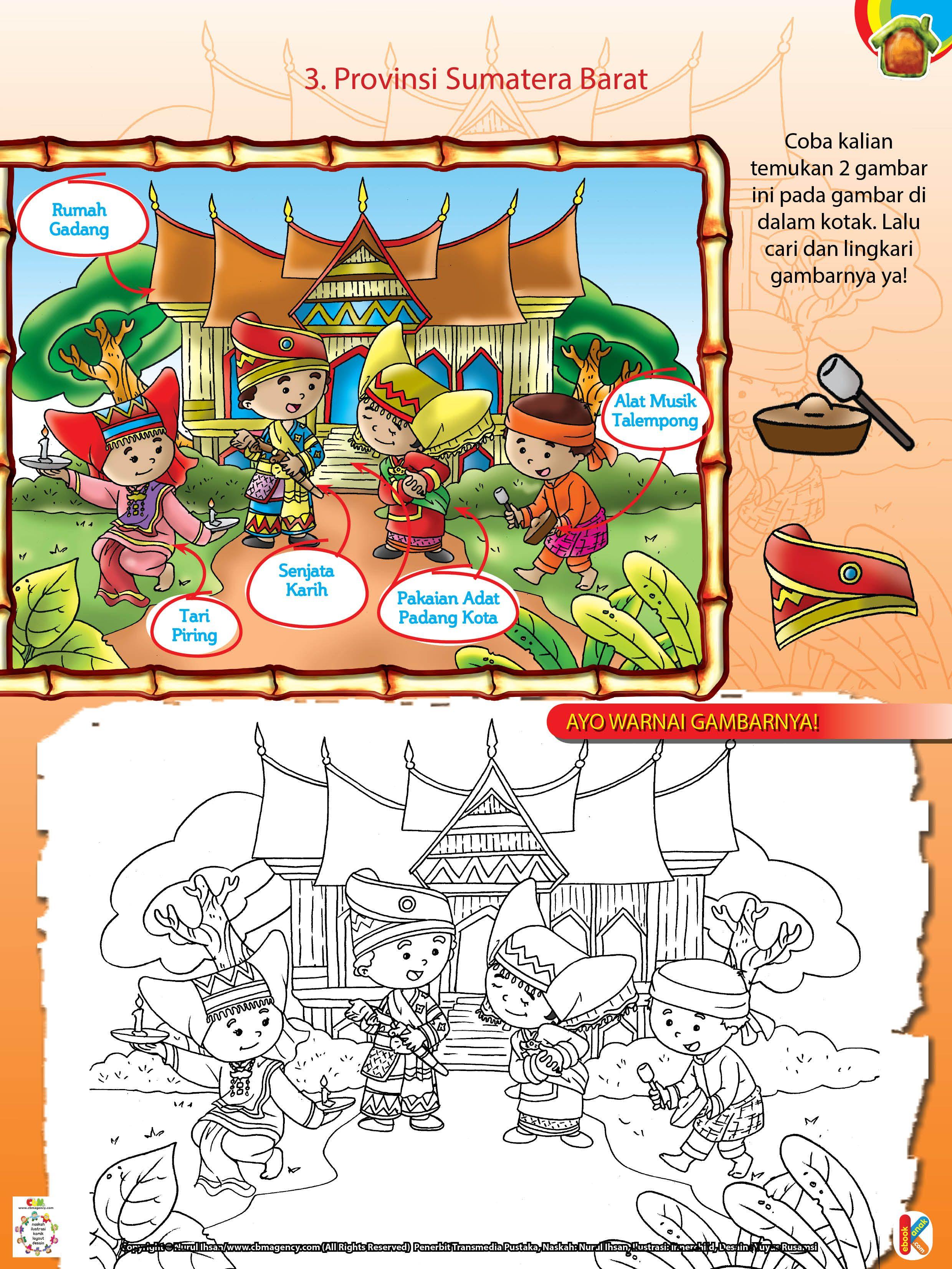 Gambar Pakaian Adat Sumatera Barat Kartun