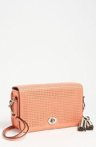 Coach Legacy Perforated Leather Penelope Penny Shoulder Purse 23404 Coral aac976aad8cd6