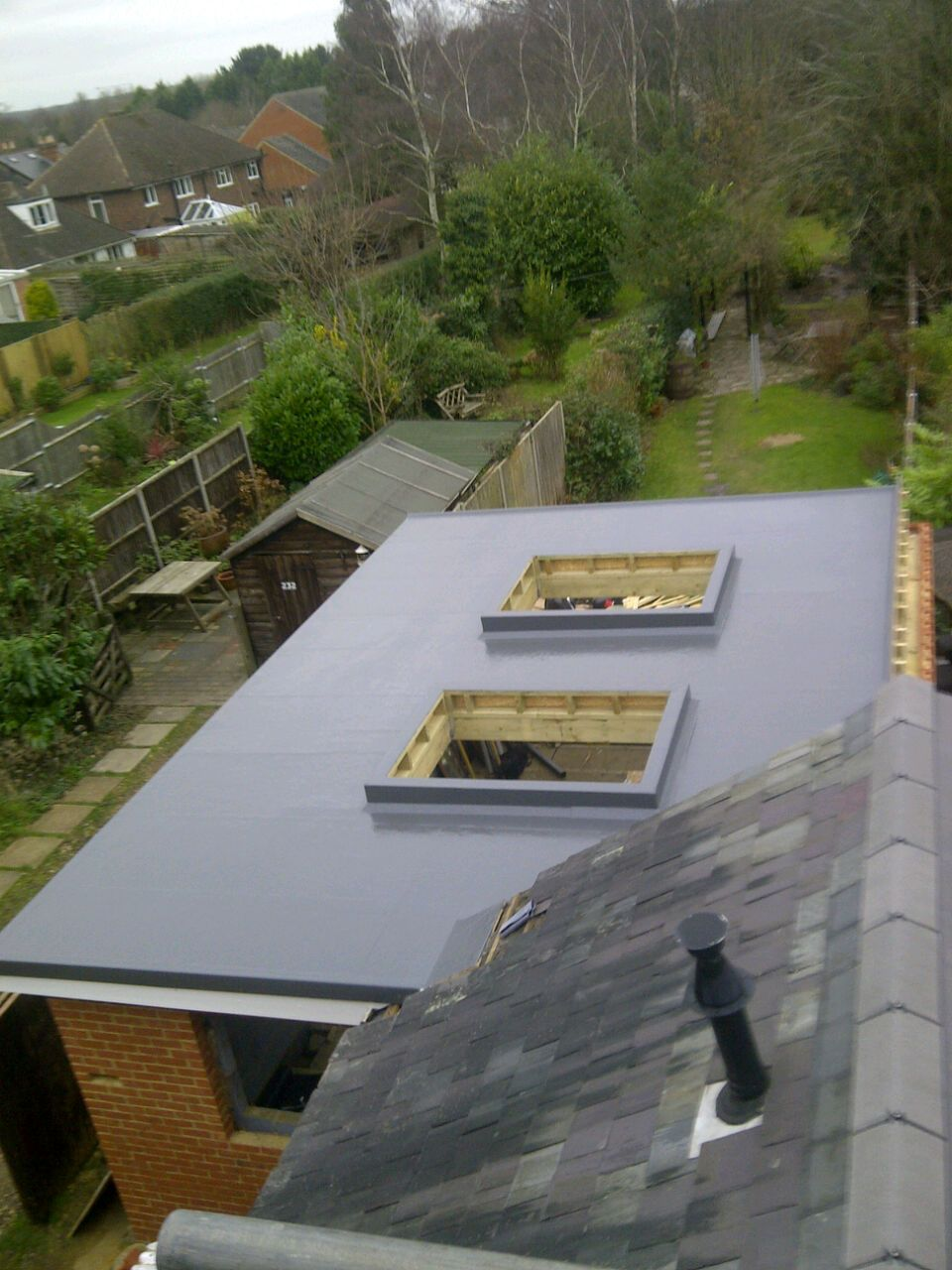 Best Grp Flat Roof Finished In Graphite Grey Flat Roof 640 x 480